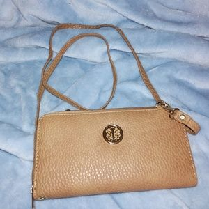 Simple Brown Crossbody Wallet NWOT